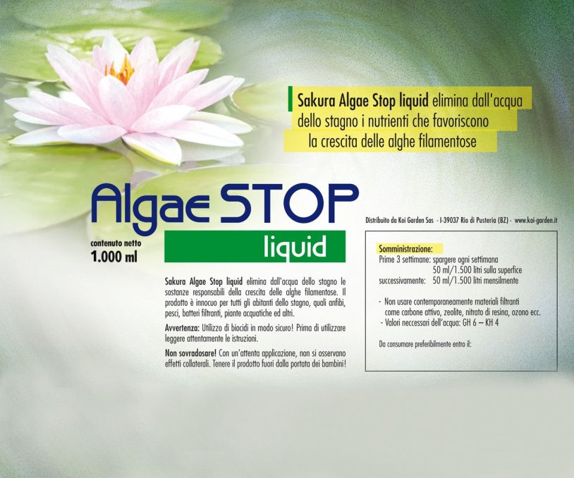 Antialghe laghetto Sakura Algae STOP Liquid 1.000 ml